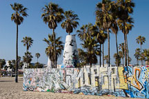 Graffiti wall and cone. Venice, California, USA. - Photo #7452