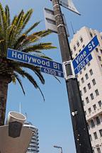 Hollywood and Vine street sign. Hollywood, California, USA. - Photo #7692