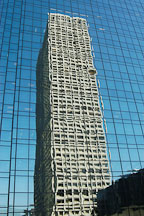 Reflection of a skyscraper. Los Angeles, California, USA. - Photo #7933