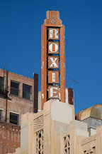 Roxie theater sign. Los Angeles, California, USA. - Photo #7940