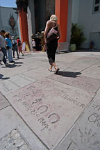 Roy Rogers and Trigger's hand, foot, and hoofprints. Los Angeles, California, USA. - Photo #7537