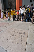 Shirley Temple's hand and footprints. Hollywood, California, USA. - Photo #7533