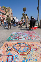 Sidewalk art. Venice, California, USA. - Photo #7397