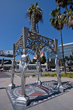 Gazebo with statues of Mae West, Dorothy Dandridge, Dolores Del Rio and Anna May Wong. Hollywood, Los Angeles, California, USA. - Photo #7687