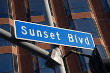 Sunset Boulevard sign. Sunset Boulevard, Los Angeles, California, USA - Photo #7596