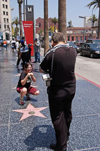 Tourists and the Walk of Fame. Hollywood, California, USA. - Photo #7505