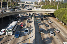Traffic on the Harbor Freeway (110). Los Angeles, California, USA - Photo #7927