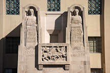 Wisdom of the east and west. Richard Riordan Central Library, Los Angeles, California, USA. - Photo #7901