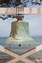 Angel Island US Immigration Station bell. - Photo #22009