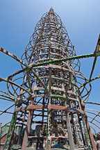 Central tower. Watts Towers, Watts, Los Angeles, California, USA. - Photo #6809