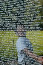 Reflection of a man on the Vietnam Veteran's Memorial Wall. Washington, D.C. - Photo #1809