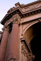 Arch of the Rotunda at the Palace of Fine Arts. San Francisco, California. - Photo #90