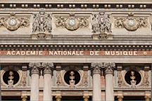 Busts of Beethoven, Mozart, and Spontini. Palais Garnier, Paris, France. - Photo #31890