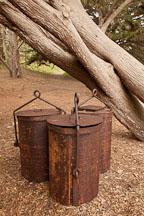 Ore buckets at Point Lobos, California. - Photo #26990