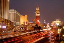 The Strip at night. Las Vegas, Nevada, USA. - Photo #13490