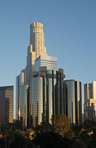 US Bank Tower and Westin Bonaventure. Los Angeles, California, USA. - Photo #7990