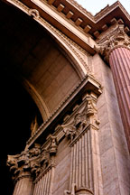 Arch of the Rotunda at the Palace of Fine Arts. San Francisco, California. - Photo #91