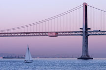 Oakland Bay Bridge at twilight. San Francisco, California. - Photo #1991