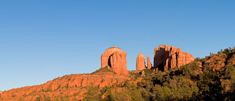 Panorama of Cathedral Rock in the late afternoon. Sedona, Arizona. - Photo #22091