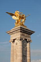 Pegasus sculpture on the Pont Alexandre. Paris, France. - Photo #31091