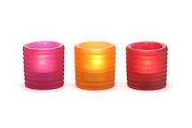 Tealight holders with candles. - Photo #5991