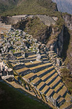 Terraces and quarry at Machu Picchu. Peru. - Photo #10091