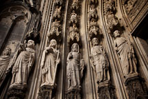 Exterior statues on the Cologne Cathedral. Cologne, Germany. - Photo #30692