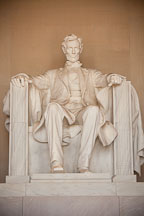 Seated statue of Lincoln. Lincoln Memorial, Washington, D.C. - Photo #29092