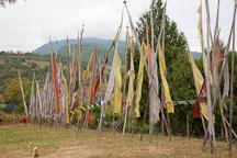 Prayer flags at Chimi Lhakhang. - Photo #23592