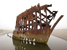 Peter Iredale shipwreck. - Photo #28492
