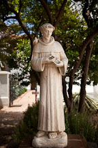 Saint Francis of Assisi statue. Mission San Luis Rey, California. - Photo #26592