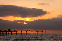 Sunset at Ocean beach pier. San Diego, California. - Photo #26192