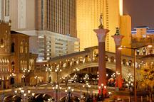 The Venetian at night. Las Vegas, Nevada, USA. - Photo #13492
