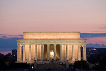 Lincoln Memorial at sunset. Washington, D.C. - Photo #12793