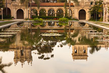 Pool and colonnade. Balboa Park, San Diego. - Photo #25993