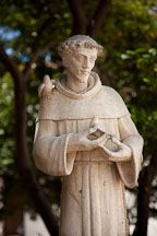 Statue of Saint Francis of Assisi. Mission San Luis Rey, California. - Photo #26593