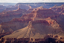 Looking westward in the Grand Canyon from the South Rim. Grand Canyon NP, Arizona. - Photo #17293