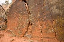 Wide view of petroglyphs at V-Bar-V ranch. Arizona, USA. - Photo #17793