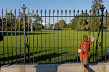 Boy at the White House fence. Washington, D.C., USA. - Photo #11394