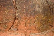 Desert varnish and petroglyphs. V-Bar-V Ranch, Arizona, USA. - Photo #17794