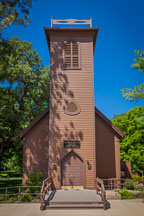Little brown church in the vale. Nashua, Iowa. - Photo #32994