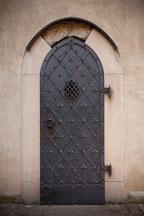 Iron door in the Jewish Quarter. Prague, Czech Republic. - Photo #29594