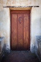 Wooden door at Carmel Mission. Carmel, Califonia. - Photo #26794