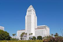 City Hall. Downtown Los Angeles, California, USA. - Photo #6495