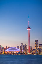 CN Tower and skydome at night. Toronto, Canada. - Photo #33095