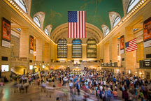 Commuters pass through Grand Central Station. New York City, New York, USA. - Photo #12995