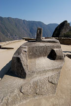 Intihuatana or Inti Watana Stone. This stone is believed to be an astronomical clock or calendar. Machu Picchu, Peru. - Photo #10095