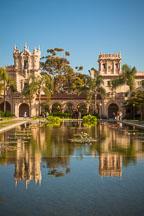 Lily pond and Casa de Balboa. Balboa Park, San Diego, California. - Photo #25895