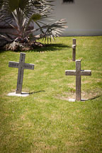 Crosses in the mission cemetery. Mission San Luis Rey, California. - Photo #26596