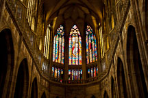 Interior of Saint Vitus Cathedral. Prague, Czech Republic. - Photo #29696
